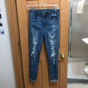 American Eagle (medium wash) Ripped Jeans